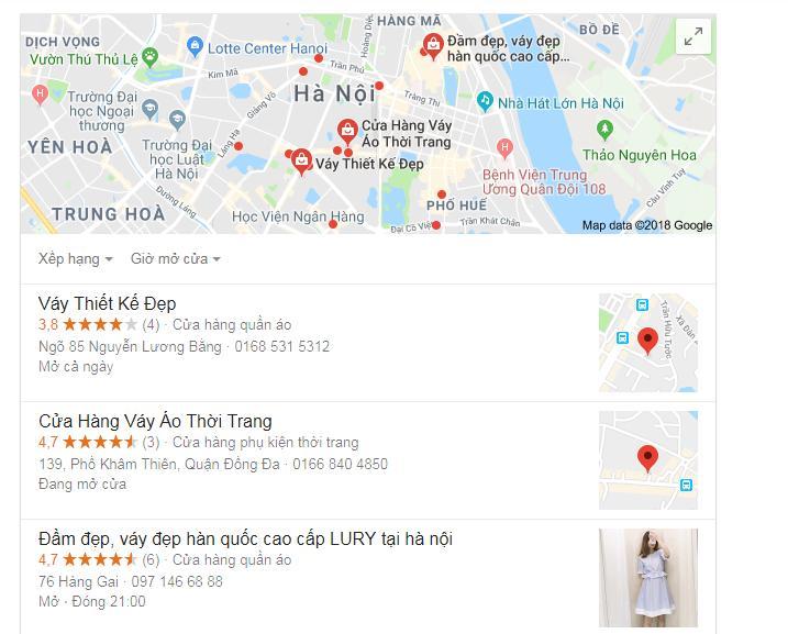 """Dạng bản đồ Map cho từ khóa """"Váy"""""""