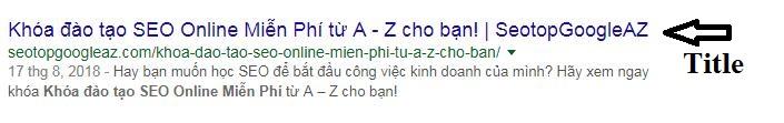 Thẻ title của bạn khi hiển thị trên Google